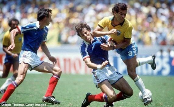 Image result for brasil francia 1986