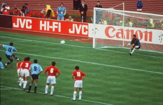 Image result for uruguay vs españa 1990